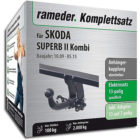 Rameder Komplettsatz Anhängerkupplung Abnehmbar 13pol Elektrik Für Skoda Superb Ii Kombi 112967 08495 2 Auto