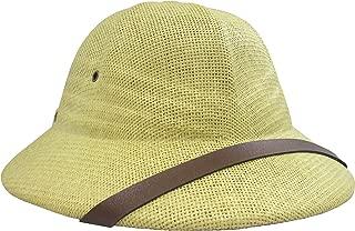 Nicky Bigs Novelties Deluxe Pith Helmet Safari Hat, Khaki, Adjustable
