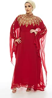 Athena Kaftan Women Long Sleeve Chiffon Maxi Dress Formal Gown Evening Dress