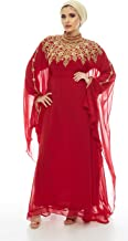 Athena Kaftan Women Long Sleeve Chiffon Maxi Dress Formal Gown Evening Dress