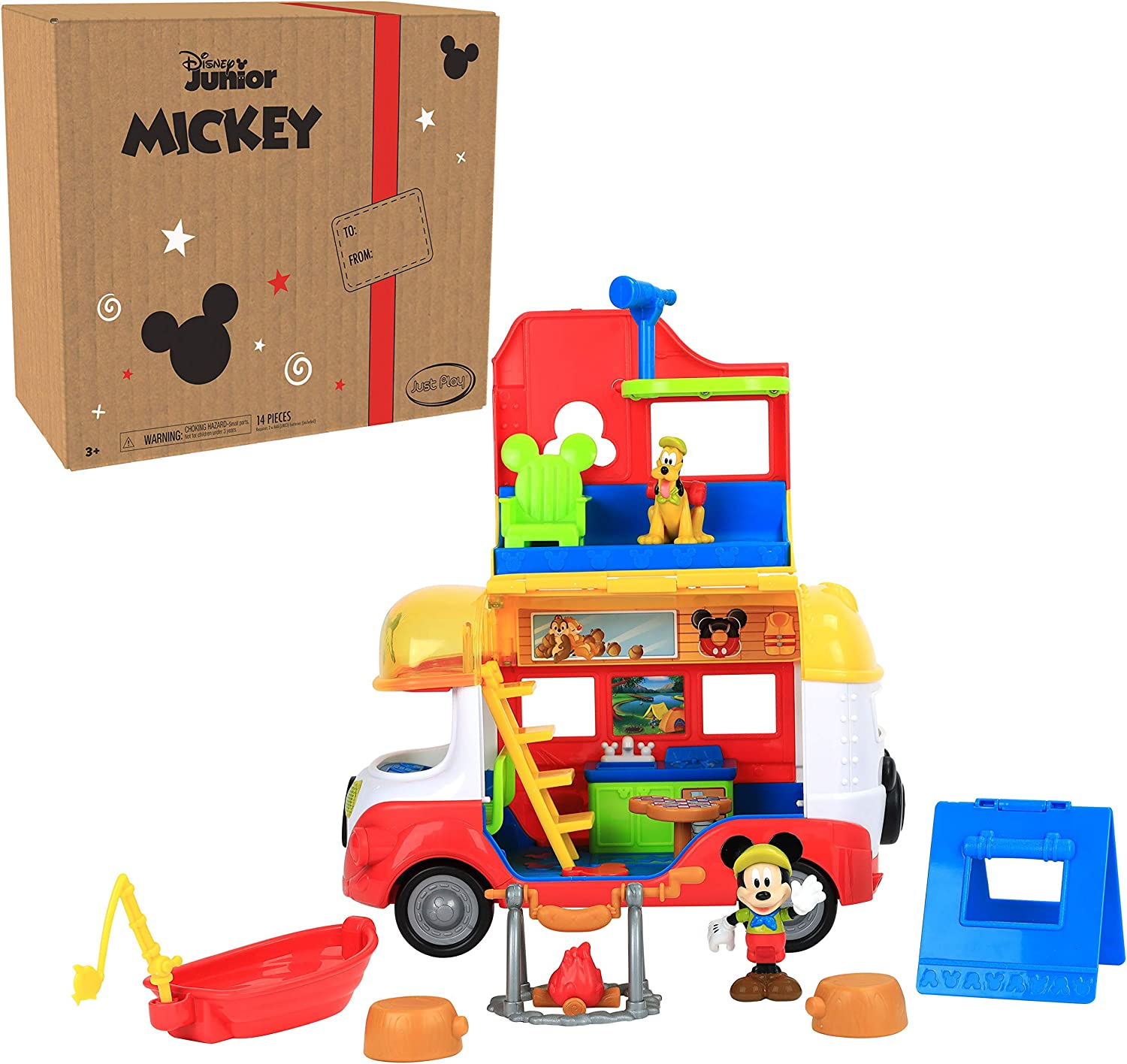 Disney Junior Mickey Mouse Outdoor and Explore Camper, Lights Multi-color