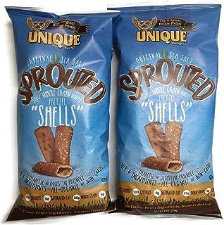 Unique Sprouted Whole Grain Pretzel Shells 8 Oz Bags - Pack of 2
