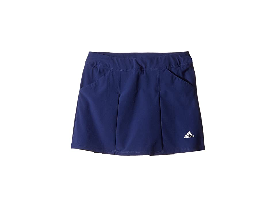 Image of adidas Golf Kids Fashion Pleated Skorts (Big Kids) (Night Sky) Girl's Skort