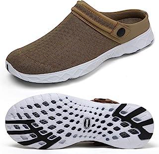 SAGUARO الرجال النساء خفيفة الوزن سريعة التجفيف أحذية رياضية المشي أحذية واسعة حديقة أحذية واقية براون