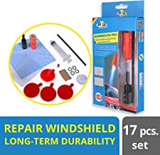 ATG Windshield Repair Kit UV Light Included - Crack & Scratch Removal on Windshields with UV-lamp – Stone Chip Repair Kit 20 pcs.