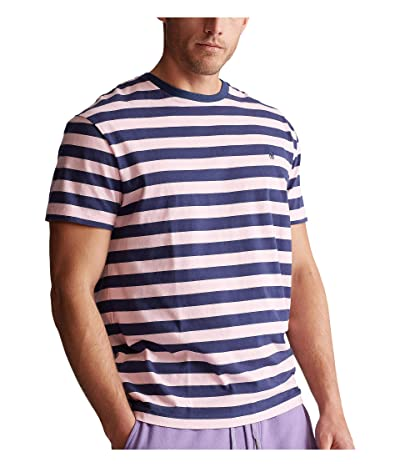 Polo Ralph Lauren Big & Tall Big Tall Classic Fit T-Shirt (Boathouse Navy/Garden Pink) Men