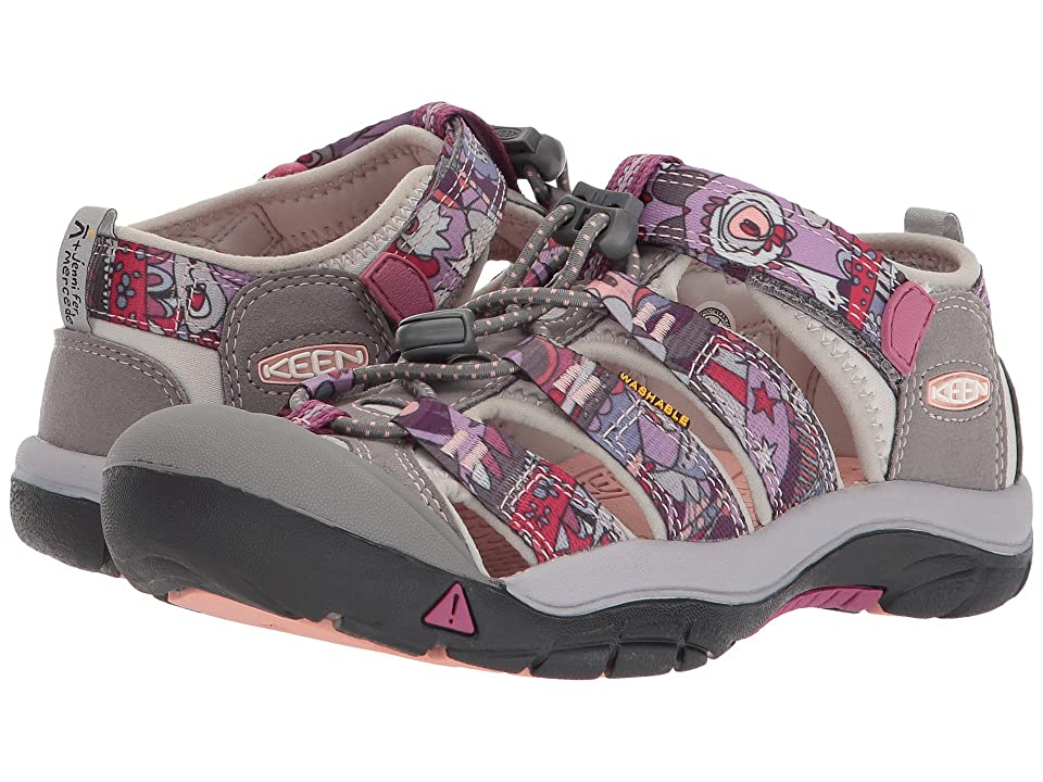 Keen Kids Newport H2 (Little Kid/Big Kid) (Grape Kiss Print) Girls Shoes