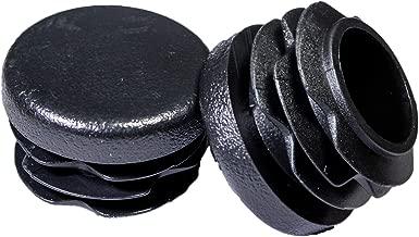Prescott Plastics 1 Inch Round Plastic Plug, Pipe Tubing End Cap, Durable Chair Glide (10)