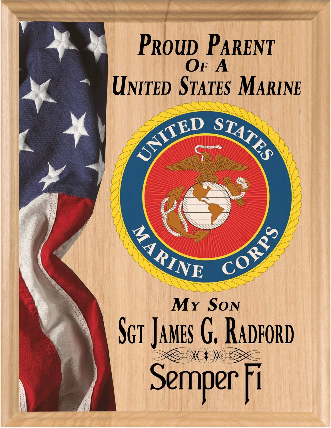 Proud Marine trend rank Parent Sign Plaque Gift Manufacturer direct delivery or Official Personalized US