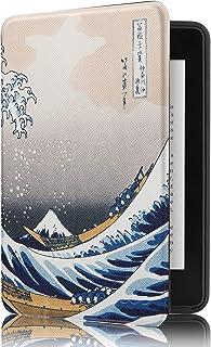 Capa Novo Kindle Paperwhite à Prova D'água WB® Ultra Leve Auto Hibernação Sensor Magnético Silicone Flexível Onda