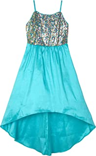 Amy Byer Girls' Big Sequin-to-Taffeta High-Low Party Dress
