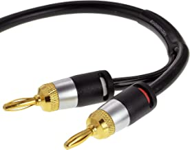 Mediabridge 12AWG Ultra Series Speaker Cable w/Dual Gold Plated Banana Tips (6 Feet) - CL2 Rated - High Strand Count Copper (OFC) Construction - Black Improved Version (Part# SWT-12B-06B)