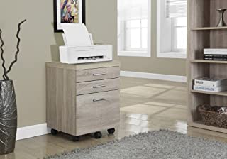Monarch Specialties 3 Drawer File Cabinet - Filing Cabinet (Natural)