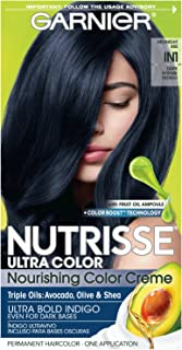 Garnier Nutrisse Ultra Color Nourishing Hair Color Creme, IN1 Dark Intense Indigo (Packaging May Vary), 1 Count