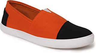BUWCH Men Casual Canvas Loafer Shoe