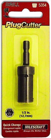 Black Milescraft 5352 1//4 Plug Cutter