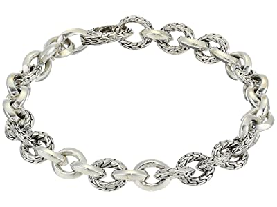 John Hardy 8.1 mm Classic Chain Knife Edge Link Bracelet with Hook Clasp (Sterling Silver) Bracelet