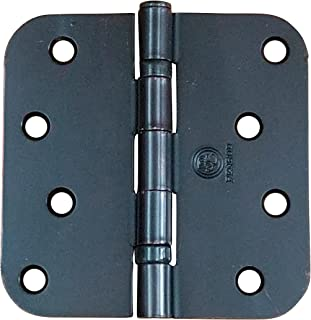 Penrod Door Hinges - Oil Rubbed Bronze - Ball Bearing 4 inch with 5/8 inch Radius - 3 Pack