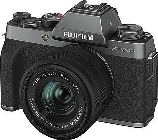 FUJIFILM ミラーレス一眼カメラ X-T200レンズキット ダークシルバー X-T200LK-DS