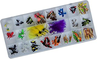Thor Outdoor 80 Pc Premier Topwater Fly Fishing Set with Case - Ideal for Bass, Panfish, and Trout
