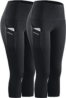 Women's Tummy Control High Waist Capri Leggings Yoga Pants with Pockets