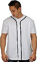 YoungLA Men's Baseball Jersey T-Shirts Plain Button Down Sports Tee 303