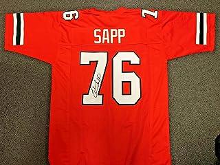 Signed Warren Sapp Jersey - Coa - JSA Certified - Autographed College Jerseys
