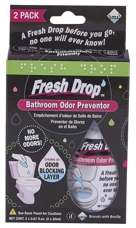 Fresh Drop Bathroom Odor Preventor, 2 Bottles Per Pack (Pack of 3)