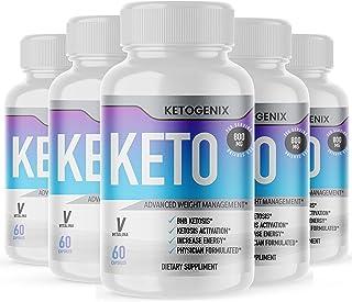 (5 Pack) Official Ketogenix, BHB Ketones, 5 Bottle Package, 5 Month Supply