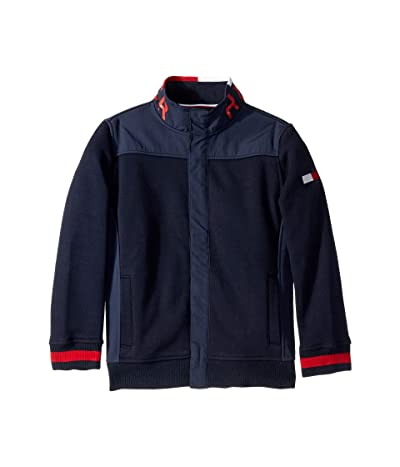 Tommy Hilfiger Adaptive Sweater with Magnetic Buttons and Mock (Little Kids/Big Kids) (Sky Captain) Men