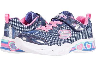 SKECHERS KIDS Sport Lighted Sweetheart Lights 302304L (Little Kid/Big Kid) (Navy/Multi) Girl