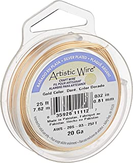 Artistic Wire, 20 Gauge, Gold Color, 25 ft (7.6 m) Craft Wire