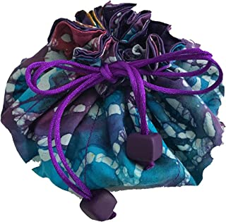 Luggage Spotter Travel Jewelry Pouch Bag Organizer! Handmade High Quality! Holds a TON of items! Everything Stays Tangle Free and Right in Place! - EGGPLANT (PURPLE TURQUOISE)