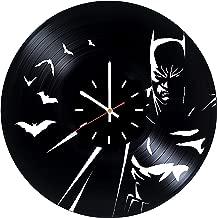 Batman Arkham Vinyl Record Wall Clock - Kids room or Bedroom wall decor - Gift ideas for friends, men, boys, brother - Unique Art Design