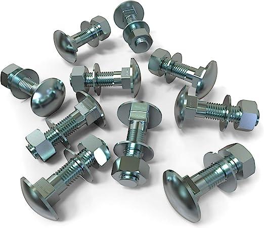 20x M10x150 20 x Boulons M10 x 150 t/ête ronde collet carr/é Vis TRCC avec /Écrou et Rondelle Longueurs 30-200mm choix