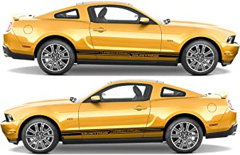 Evilrpm Pair Side Doors Decal Stripes Stickers Kit for Ford Mustang GT (Black Matt)