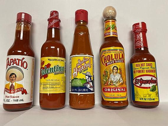 Amazon.com : Mexican Hot Sauce Bottle Bundle 4 pcs : Grocery & Gourmet Food