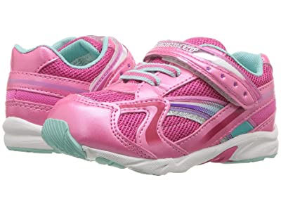 Tsukihoshi Kids B. Glitz (Toddler) (Hot Pink/Mint) Girls Shoes