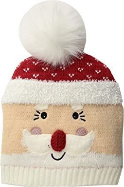 Knit Santa Beanie w/ Faux Fur Pom (Little Kids/Big Kids)