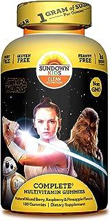 Sundown Naturals Kids Complete Multivitamin Gummies Disney Star Wars Natural Mixed Berry Raspberry Pineapple Flavors 180 G...