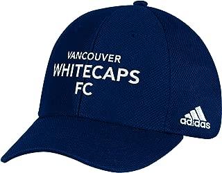adidas MLS Vancouver Whitecaps Men's Wordmark Mesh Structured Adjustable Hat, One Size, Blue