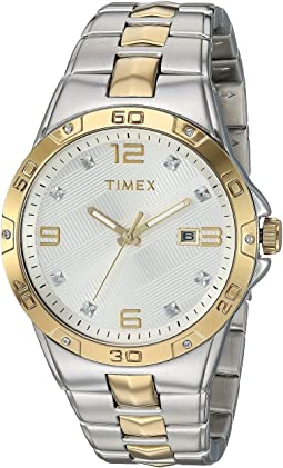Mens Two-Tone Crystal