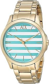 Armani Exchange Women's AX5233 Analog Display Analog Quartz Gold-Tone Watch