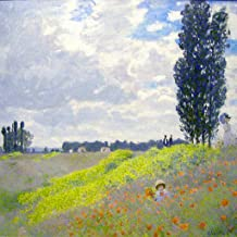 Artisoo Walk in the Meadows at Argenteuil - Size: 30 x 30 inches - Impressionism Oil painting reproduction - Claude Monet