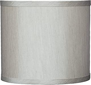 Urbanest Faux Silk Drum Lampshade, 8-inch by 8-inch by 7-inch, Champagne, Spider Fitter