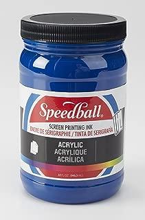 Speedball 046410 Acrylic Screen Printing Ink, 32 FL OZ, Process Cyan