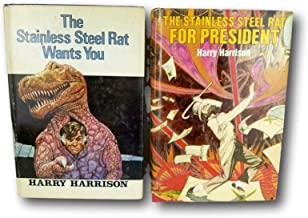 Rare Harry Harrison 2 BOOK LOT ~ The Stainless Steel Rat for President & Wants You HC