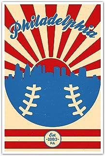 ArtsyCanvas Philadelphia Phillies Vintage Baseball Poster (12x18)