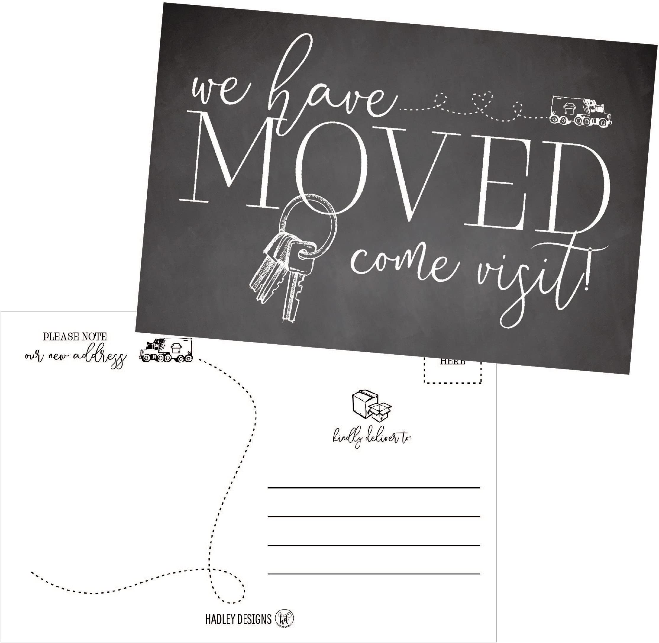 white house moving announcement house warming invitation new address we/'ve moved farm house a new home