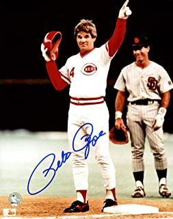 Pete Rose Signed Photograph - 8x10 4256 Shot PR Holo Stock #159227 - Autographed MLB Photos
